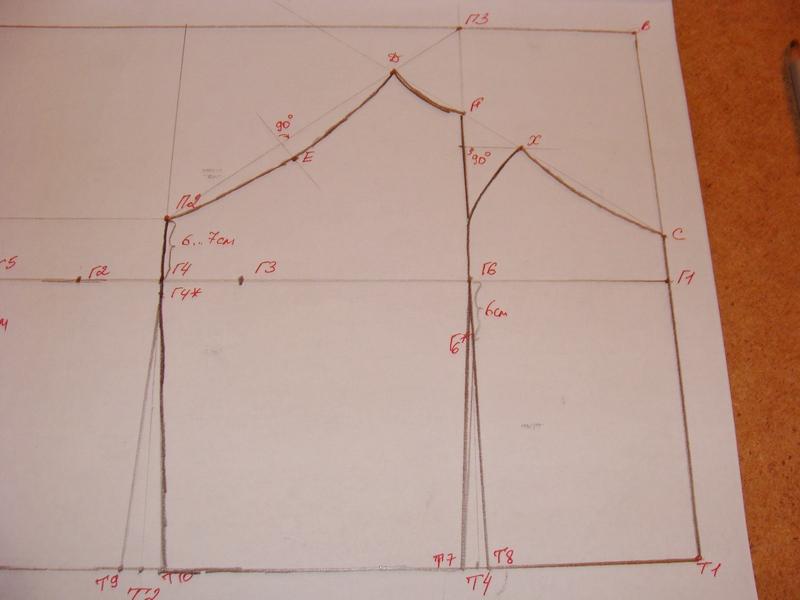 Построение чертежа выкройки летнего топа (лифа сарафана